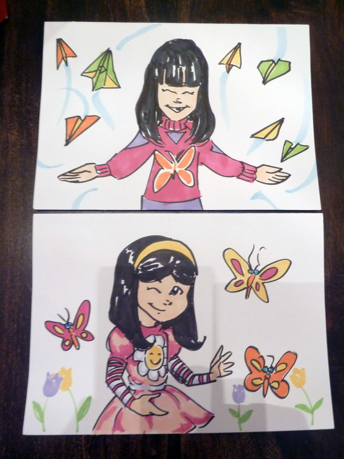 Kid Sketches Custom Greeting Cards Made With Art Markers