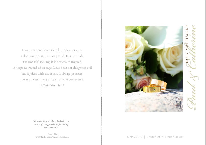 funeral mass booklet template .