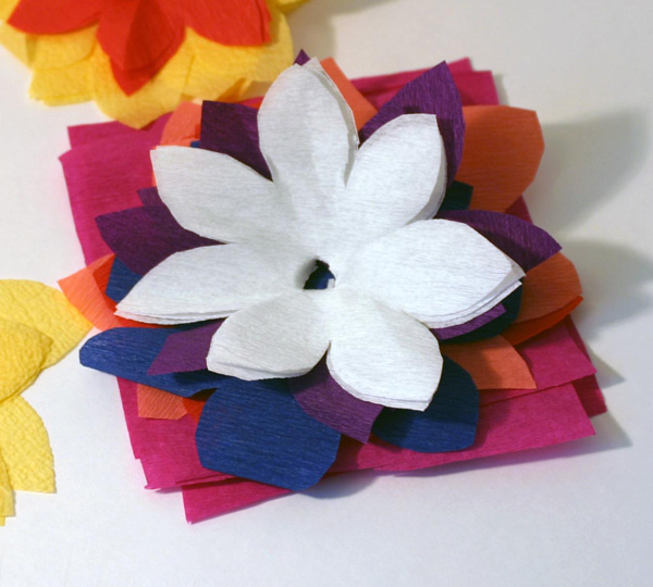 Цветы для поделок из бумаги 8