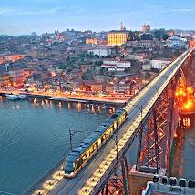 Porto - Ponte D. Luis sobre o Rio Douro