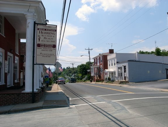 Main Street and <i>the main street</i>, Stanardsville, Virginia.