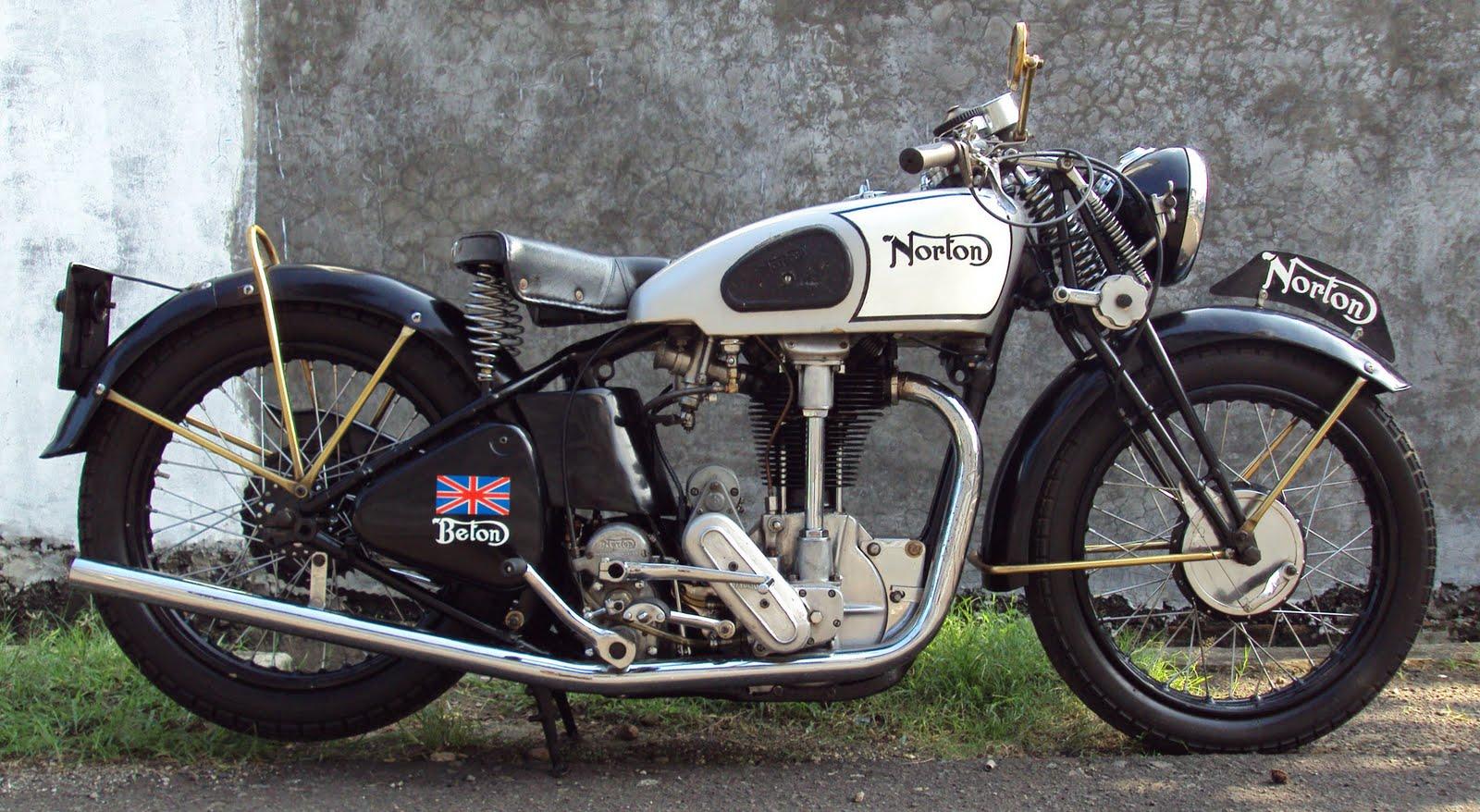 Vintage Norton Motorcycles C1937 596cc Overhead Camshaft
