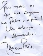 Mensagem do João Pedro aos fãs