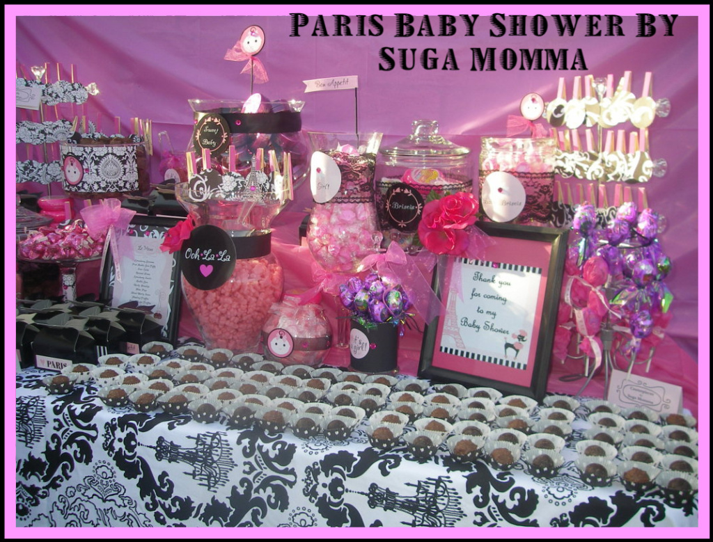 candy designs paris baby shower