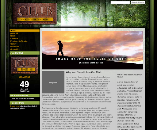 Google drive blog get started with google sites templates we started the gallery with some initial templates which cover a variety of uses for example if youre building a site for your club or association pronofoot35fo Gallery