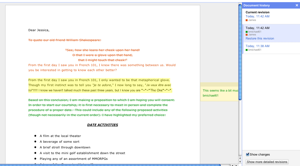 How to color in google docs - We Ve Also Made It Easier To Anticipate The Changes Other Real Time Co Editors Are About To Make In Google Documents Text That Another Editor Is Selecting
