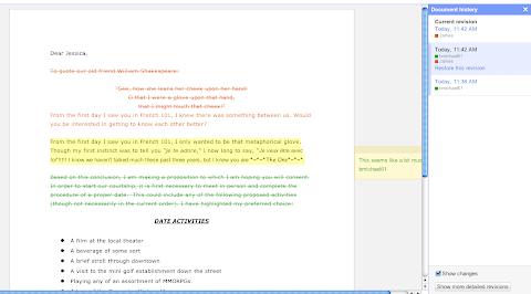 Google Docs Revision