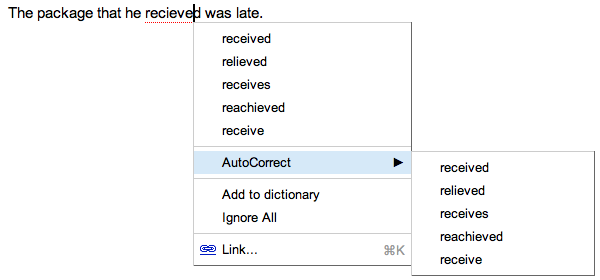 Google drive blog faster typing fewer mistakes for Google docs add autocorrect