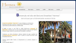 Schermata del sito dimostrativo
