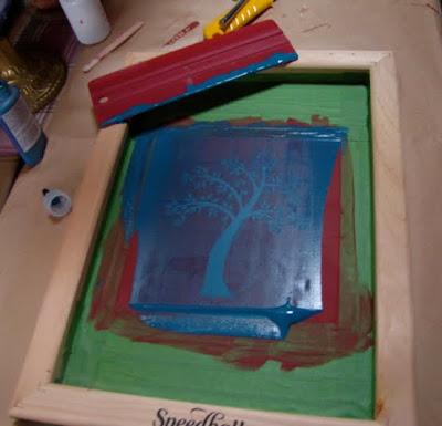 The creative caravan foray in to silkscreening on glass for Silk screen shirts near me