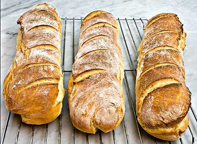 Old-fashioned Baguettes from Laurie at Mediterranean Cooking in Alaska blog