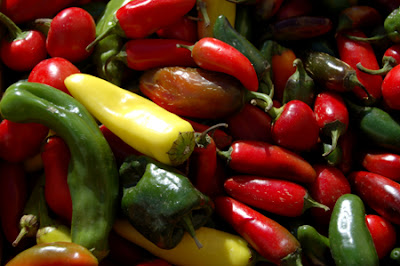 Photo of mixed chili peppers