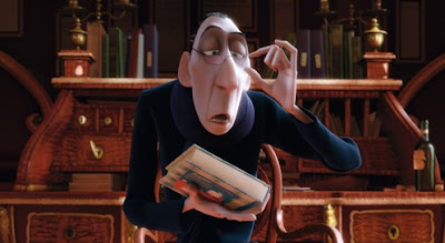 Still from movie of Anton Ego, restaurant critic, courtesy of Pixar