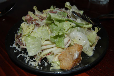 Fantastic caesar salad - you see that cruton? It's the only one!