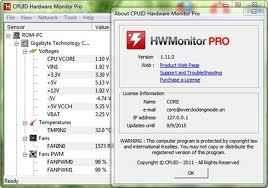 HWMonitor Pro v1.11 adalah Aplikasi untuk mengukur panas suhu Hardware ...
