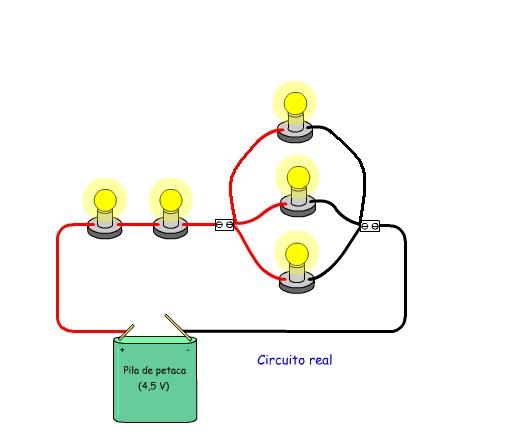 Circuito Que Tenga Un Interruptor Una Pila Y Una Bombilla : Informática enfurecida conexión mixta o en serie paralelo
