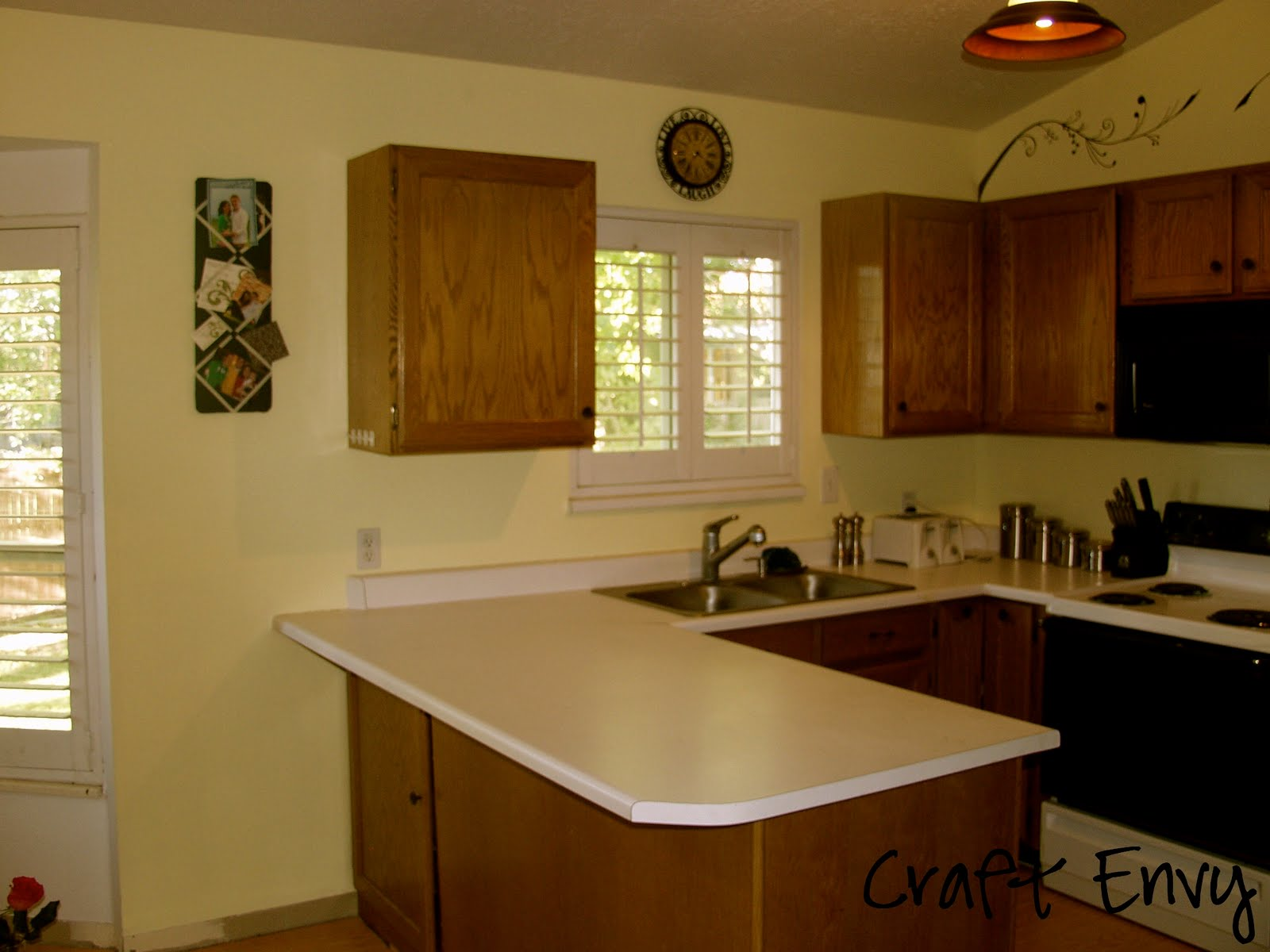 Kitchen with Light Yellow Paint