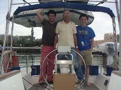Carlos, en Rojo y Nicolás, en Azul