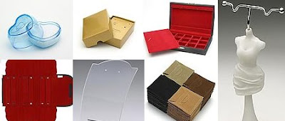 Bijuteria: Caixas - Embalagens - Expositores - Sacos - Vitrinas