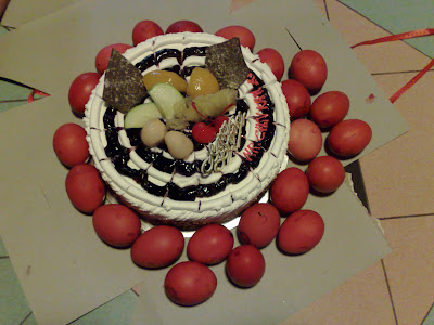 My 22th Birthday Cake And Red Eggs Now Is 1153pm Still 5th Feb 2009 Today Unforgetable I Think This The 1st