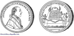 Medal minted during the reign of Joseph II commemorating his grant of religious liberty to Jews