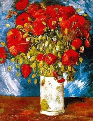 flowers in vase van gogh. Van Gogh#39;s Poppy Flowers Still