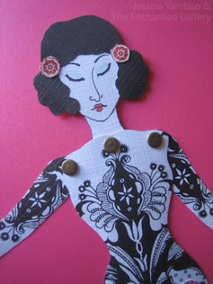 The Enchanted Gallery Paper Dolls With Rubber Stamped Faces