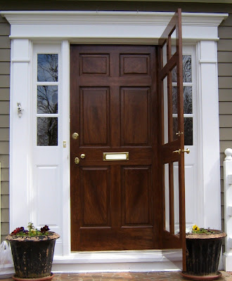 Fauxpaintingsystems faux woodgraining a front door for Faux wood front doors