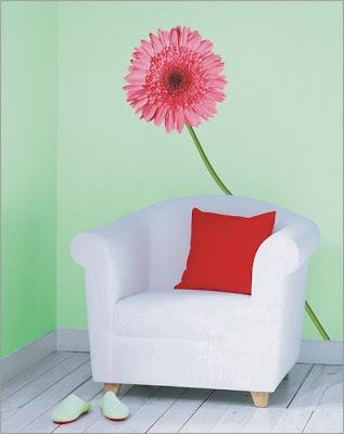 Декорация за стена - Свежи цветя