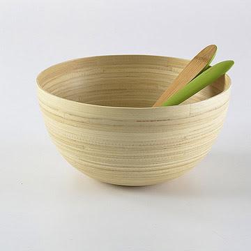 Kупа за салата от бамбук