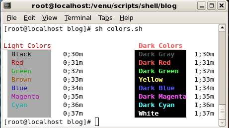 Shell Colors Colorizing Scripts Bash Scripting By