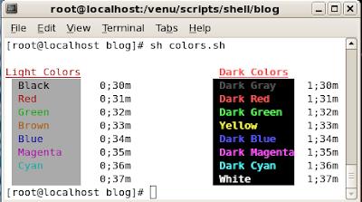bash colors