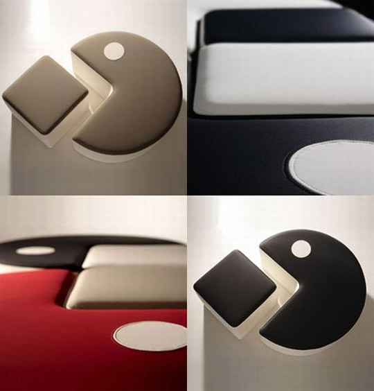 pac man inspired soft furniture