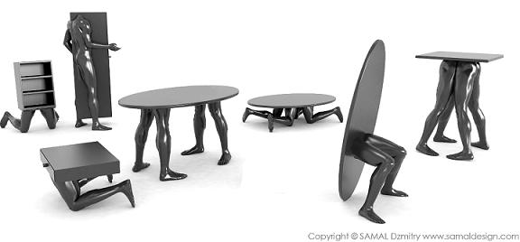Cool Furniture Design cool sculptural human furniture