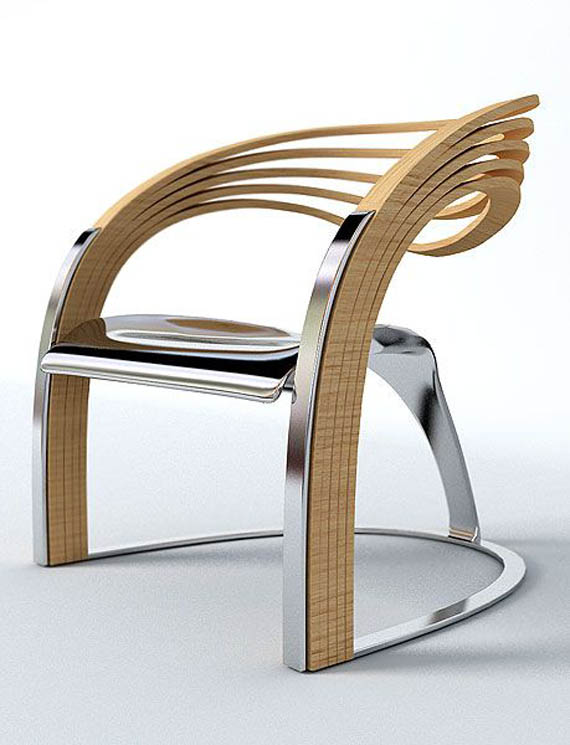 Amazing bentwood chair elaxa chair for Wooden armchair designs