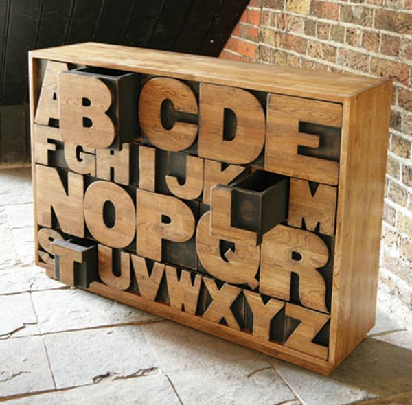 Alphabet Shaped Drawers