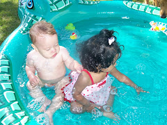 Pryanka & cousin Korbin enjoy the pool-Memorial Day