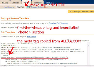 claiming blogspot in alexa
