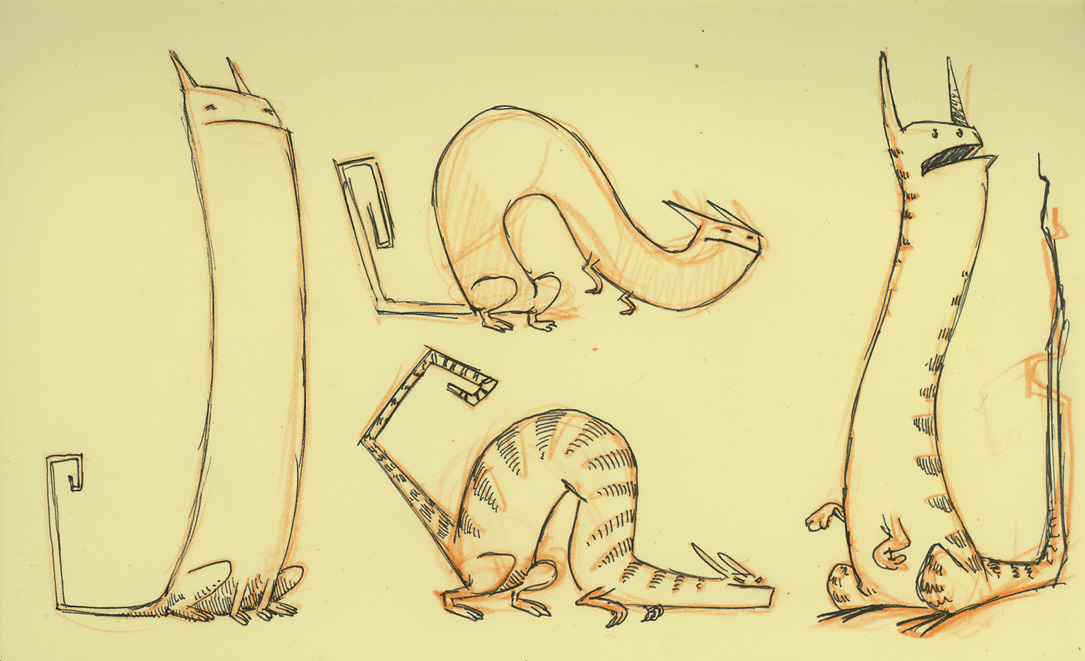 Skinny Cat Drawing Some Character Sketches of a