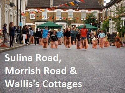 Sulina Road, Morrish Road & Wallis's Cottages