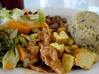 Lunch Plate from Vegetarian Restaurant by Hakin