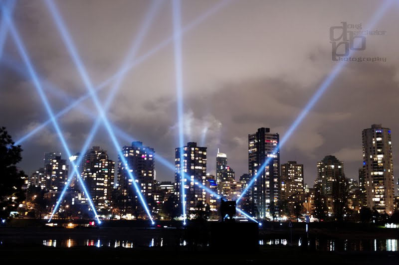 english bay spotlights