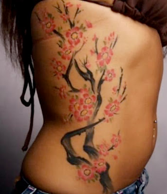 tattoo cherry blossom. Girls Love With Tattoos