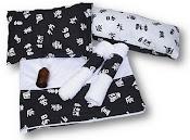 KIT MASSAGEM = 1 vd óleo, 1 suporte de massagem,1 travesseiro,1 lençol e 2 toalhas de mão+embalagem
