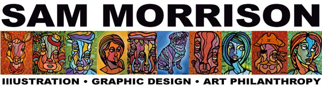 Fine art, Illustration, graphic design and the art philanthropy of Sam Morrison