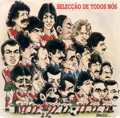 Capa do single 'Selecção de Todos Nós' com ilustração de Francisco Zambujal (clique para ampliar)