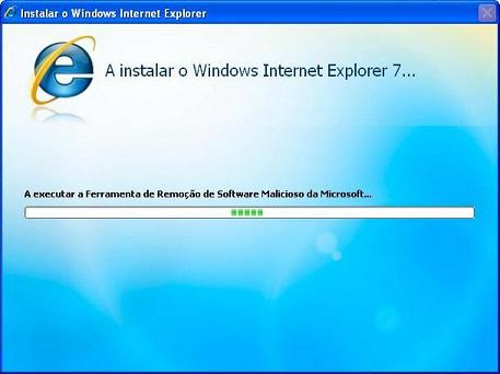 A executar a Ferramenta de Remoção de Software Malicioso da Microsoft...