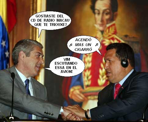 José Sócrates visita Hugo Chávez na Venezuela