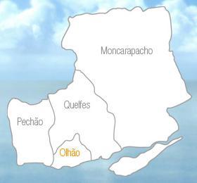 Mapa do Município de Olhão segundo a candidatura Em Olhão Nós Acreditamos