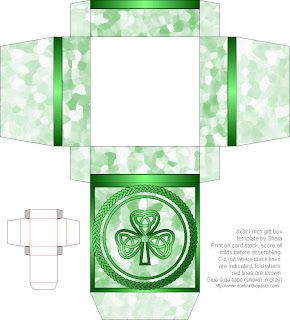 Don\'t Eat the Paste: Shamrock printable box and coloring page